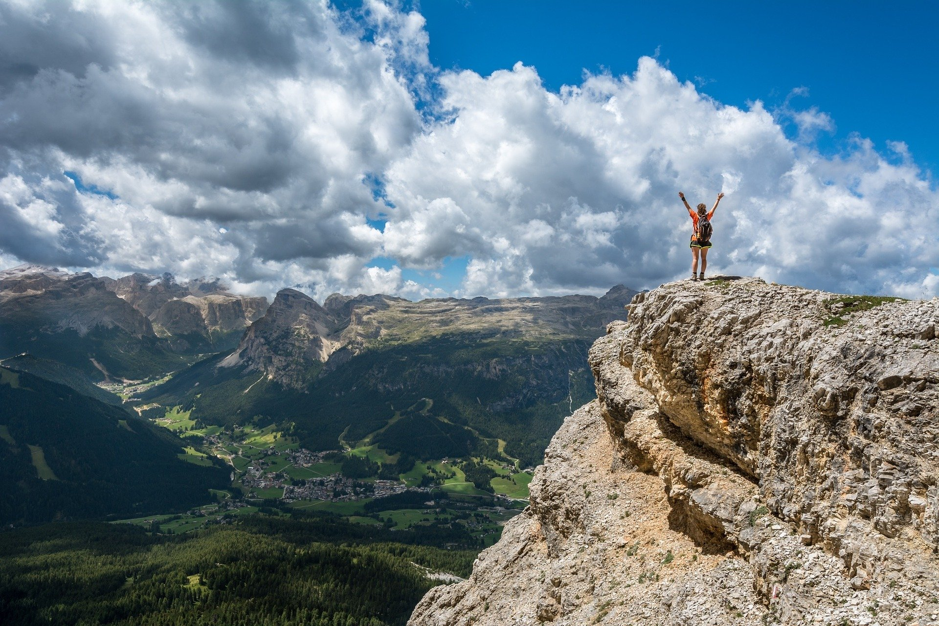 person on a mountain top